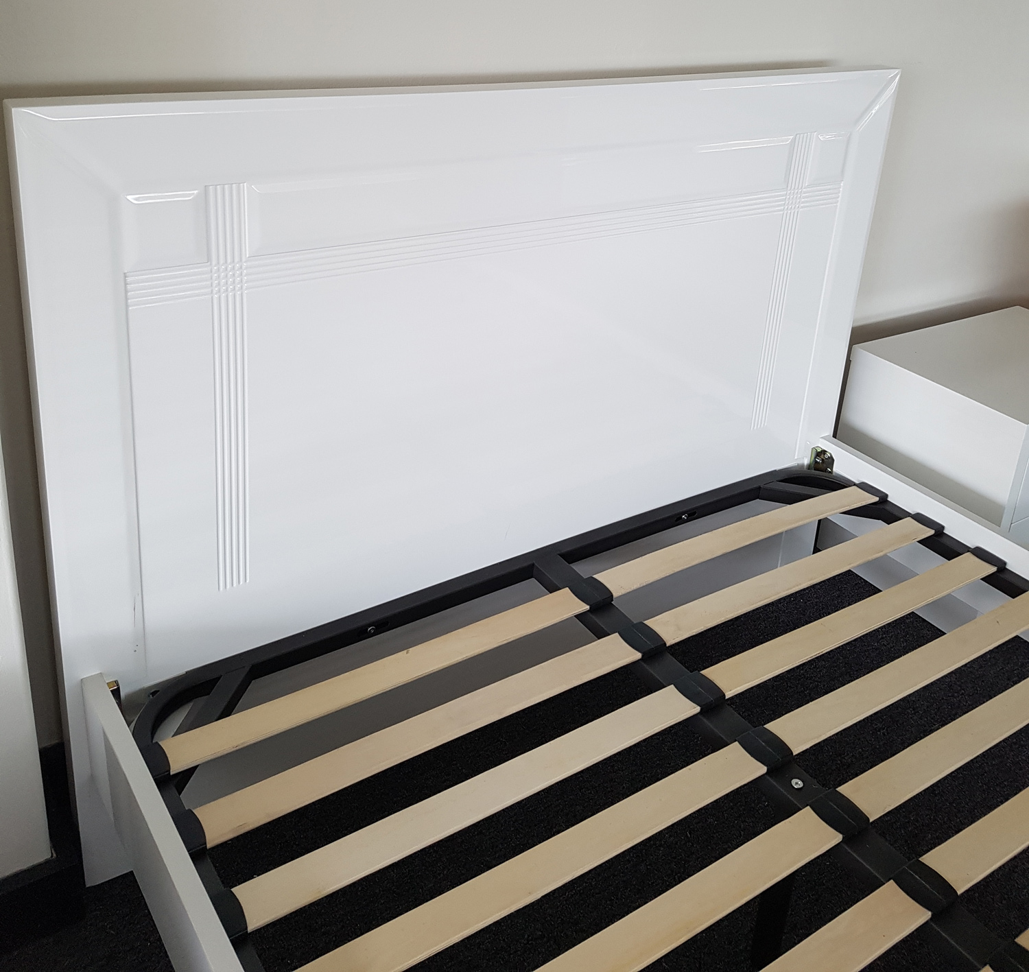Brand New Solid Wood Modern White Timber Queen King Size Bed 4 Pieces Suite